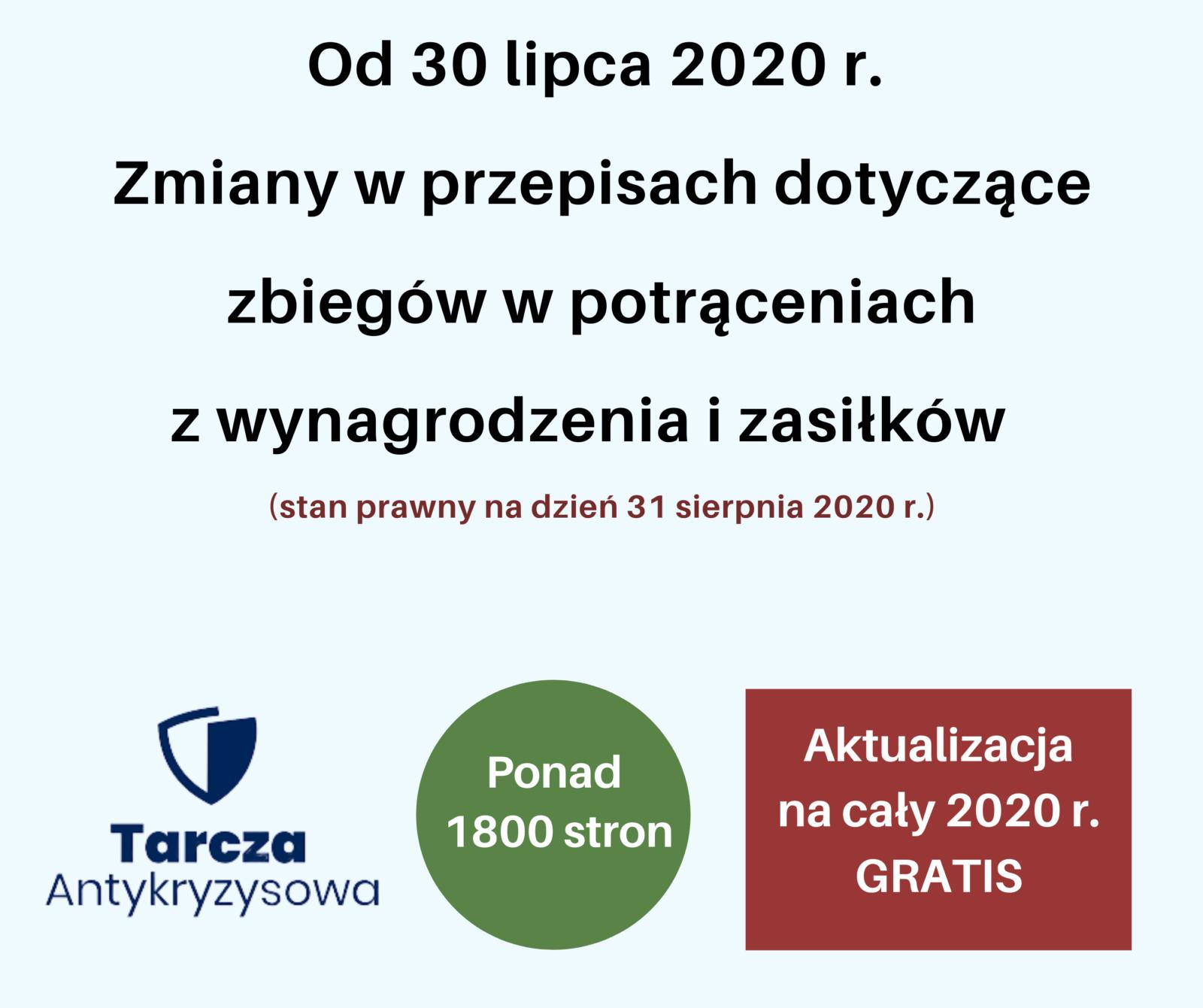zmiany zbieg potracen od 30 lipca 2020
