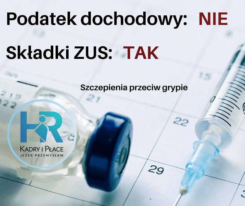 szczepienia przeciw grypie zus podatek