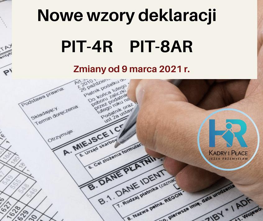 nowe wzory deklaracji PIT jezek przemyslaw
