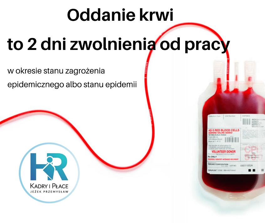oddanie krwi to dwa dni wolne