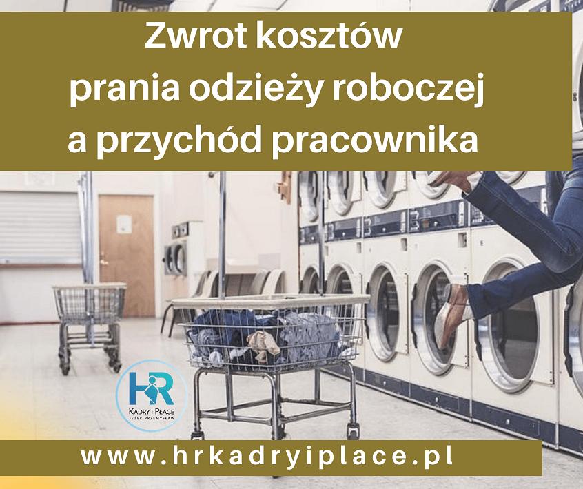 ZWROT ZA pranie odziezy bhp
