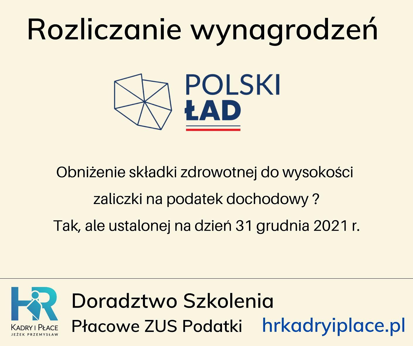 Polski Lad skladka zdrowotna do wysokosci zaliczki